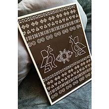 Grafika - Folklórny plagát Čičmany - 8544108_