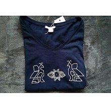 Tričká - Folklórne tričko Čičmany - 8545432_