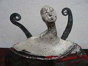 Socha - Keramika, Anděl kovaný.. - 8545498_