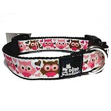 Pre zvieratá - Obojok Pink Owls - 8544214_