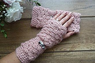 Rukavice - ROMANTIK rukavičky ružové - 8545941_