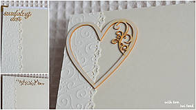 Papiernictvo - Svadobný fotoalbum - s farebnou krajkou - 8546569_