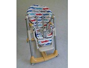 Textil - Bavlnený poťah na stoličku Peg Perego Prima pappa akýkoľvek model, pozri v popise - 8546595_