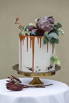 Krabičky - dekoračný box / svadobná torta Figová - 8546626_