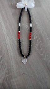 - Náhrdelník onyx,jadeit a krištál - 8545413_