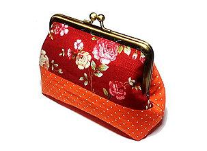 Peňaženky - taštička/peňaženka s kovovým uzatváraním - 8545723_