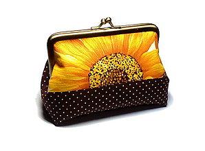 Peňaženky - taštička/peňaženka s kovovým uzatváraním - 8545767_