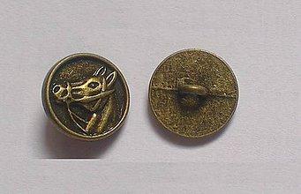 Galantéria - Kovový gombík Koník - 8546412_