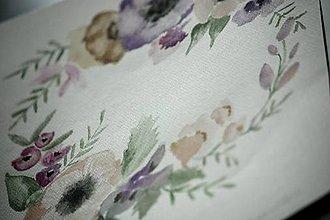 Kresby - venček kvetinkový lilavý - 8544911_