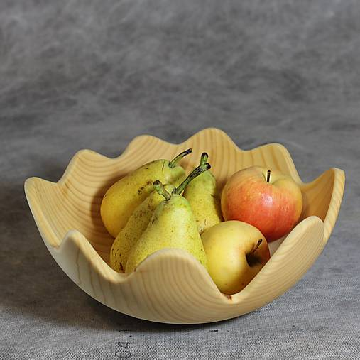 miska z lipového dreva