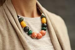 - Mohutný náhrdelník z minerálov mix - 8545695_