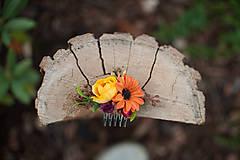 Ozdoby do vlasov - Kvetinkový minihrebienok - 8545868_