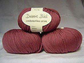 Galantéria - Debbie Bliss - staroružová s kašmírom - výpredaj - 8548438_