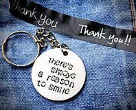 Kľúčenky - Vždy je dôvod na úsmev :) - 8550079_
