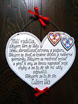 Tabuľky - Maľované drevené poďakovanie rodičom - FOLK - 8548441_
