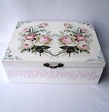 Krabičky - Krabica 6 priečinková- Rose - 8550340_
