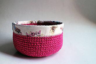 Košíky - Košík - Cyklámenový Ružový | Obšitý | Kozmetika - 8549854_
