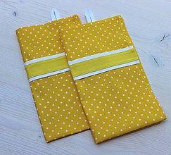 Úžitkový textil - utierka (set 2ks) Tina žltá - 8550416_