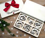 - Drevené vianočné ozdoby - Anjelská kolekcia - 8549257_
