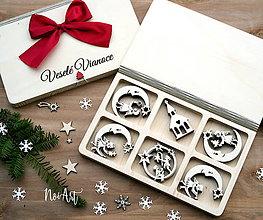 Dekorácie - Drevené vianočné ozdoby - Anjelská kolekcia - 8549257_