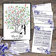 Papiernictvo - Svadobná sada s obrazom na odtlačky prstov pre Líviu - 8549067_