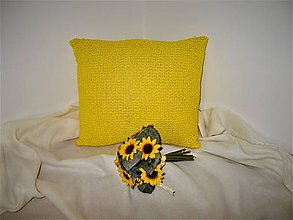 Úžitkový textil - Slnkom prežiarený - háčkovaný vankúš - 8548402_