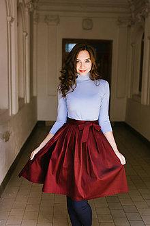 Sukne - Zavinovací sukně bordó - 8547027_