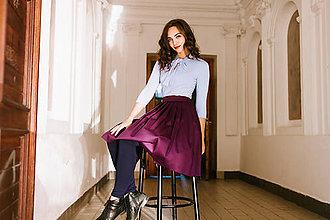 Sukne - Zavinovací sukně fialová - 8547048_