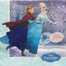 Papier - S947 - Servítky - frozen, ľadové kráľovstvo, olaf, elsa, anna, disney - 8547323_