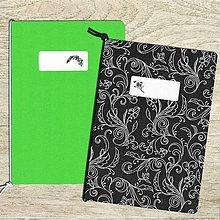 Papiernictvo - sada zošitov A5 - zelená - 8547334_