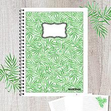 Papiernictvo - MADEBOOK špirálový zošit A5 - LISTY ZELENÉ - 8547556_