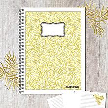 Papiernictvo - MADEBOOK špirálový zošit A5 - LISTY ŽLTÉ - 8547568_