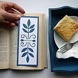 Papiernictvo - Folková modro-biela... - 8547938_
