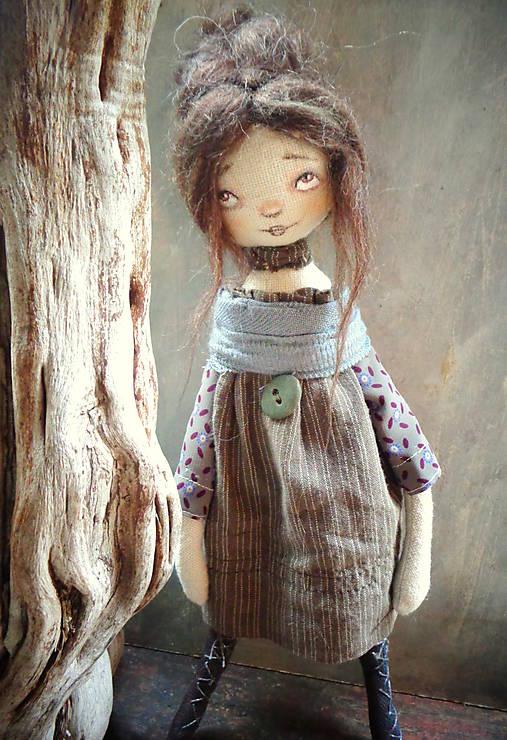 Bábiky - Natura doll - hnědovláska - 8547062_