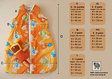 Textil - Ovčie rúno Detský spací vak na zimu 100% MERINO TOP super wash BODKA béžová - 8550368_