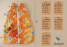 Textil - Ovčie rúno Detský spací vak na zimu 100% MERINO TOP super wash bledomodrý - 8550411_