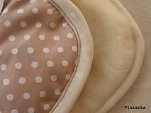 Textil - Ovčie rúno Detský spací vak na zimu 100% MERINO TOP super wash BODKA béžová - 8550419_