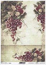 Papier - Ryžový papier Hrozno - 8549077_