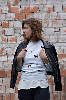 f945d60b6 Mikiny - Mikina Líštičky (svetlo-šedý melír) - 8547488_