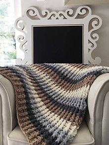 Úžitkový textil - Deka ,,chunky,, pre bábätko - 8547822_