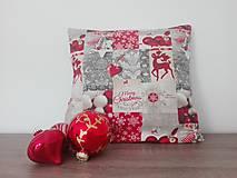 Návlečka na vankúšik - vianočný patchwork