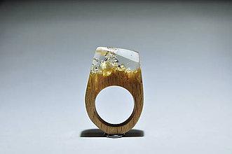 Prstene - Drevené prstene Bubble - 8549298_