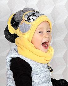 Detské čiapky - Hrejivý set - 8548205_