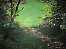 Obraz Východ slnka -akryl na plátne 70 X50 cm