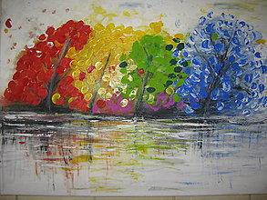 Obrazy - Obraz Farebný svet - akryl na plátne 70 X50 cm - 8549372_