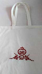 Nákupné tašky - Taška s hnedou výšivkou - 8550353_