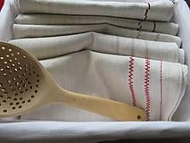 Úžitkový textil - Kuchynské utierky - ľanové - 8549749_