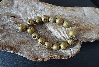 Minerály - Kremeň/krištáľ (drúza) upravený zlatý 10mm - 8550214_
