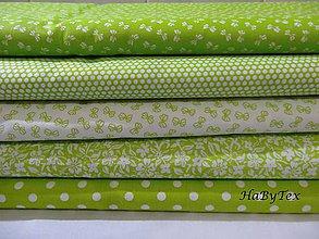 Textil - Kolekcia látok - hráškovo zelená - 8546965_