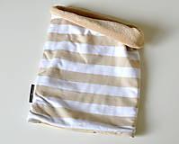 Detské doplnky - detský nákrčník oteplený prúžky - 8549541_